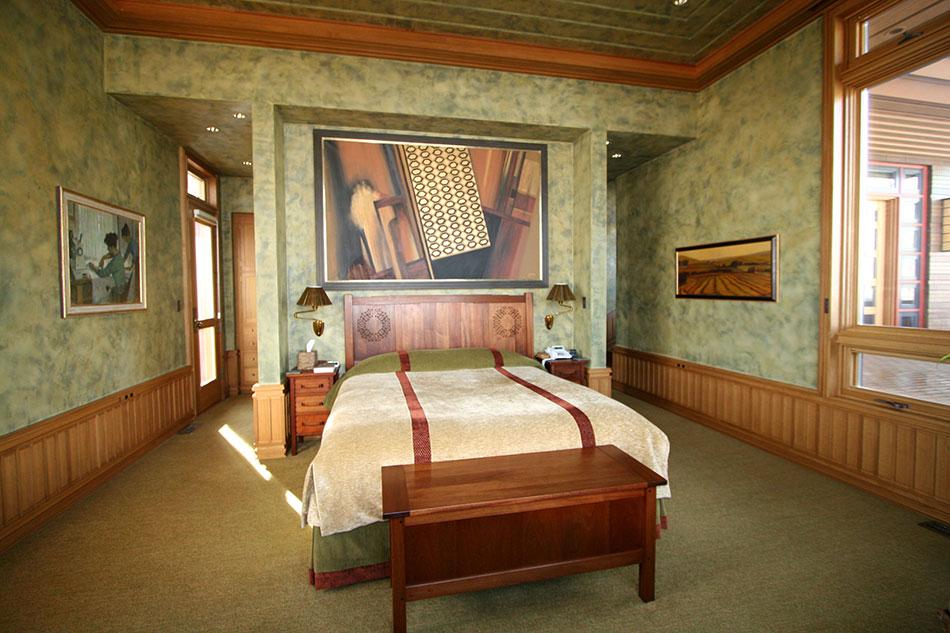 Master Bedroom With Custom Mahogany And Ebony Furniture